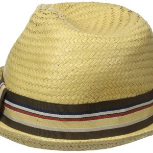 99c889144807ae Brixton Mens Crosby Medium Brim Straw Fedora Hat